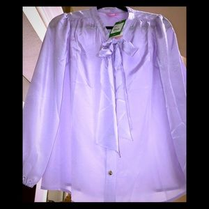 LILLY PULITZER PUSSY BOW BLOUSE